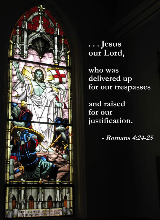Jesus' Resurrection (stained glass)